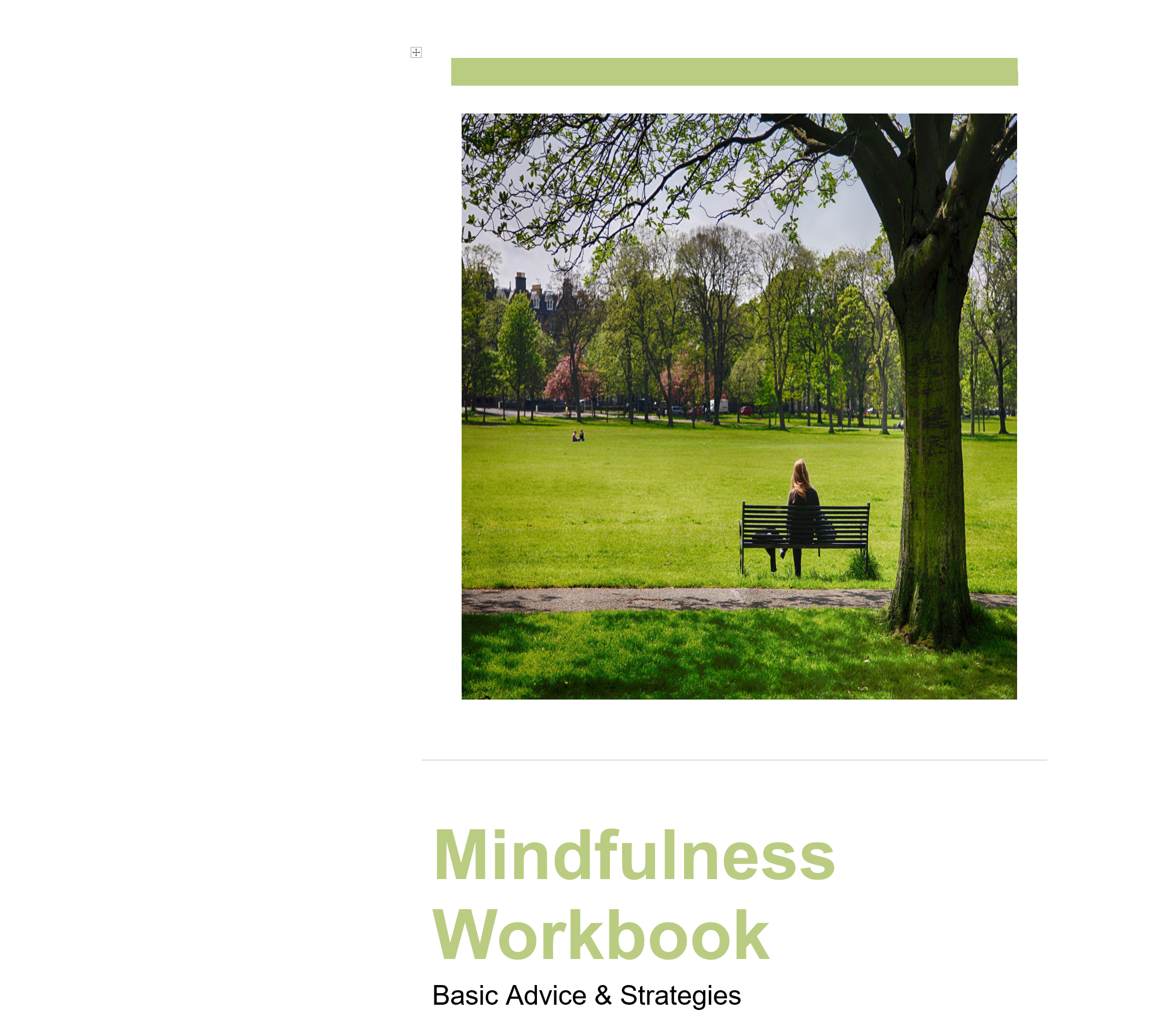 Mindfulness Workbook Cover